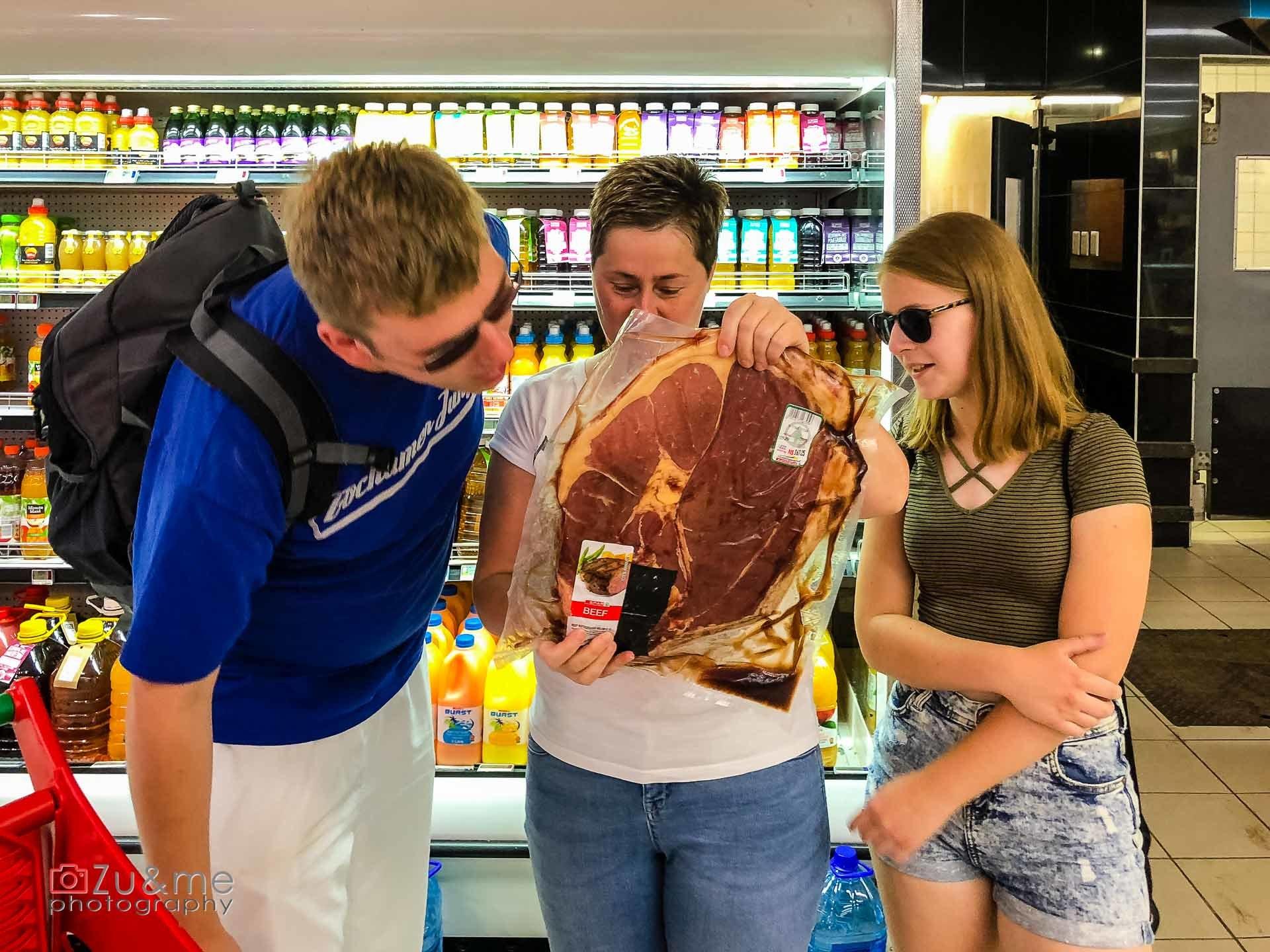 Swakopmund - zakupy na grilla