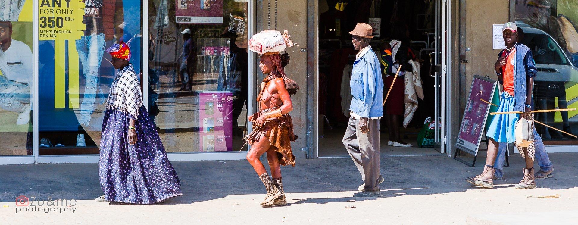 Opuwo - przekrój - Himba, Herero i inni...