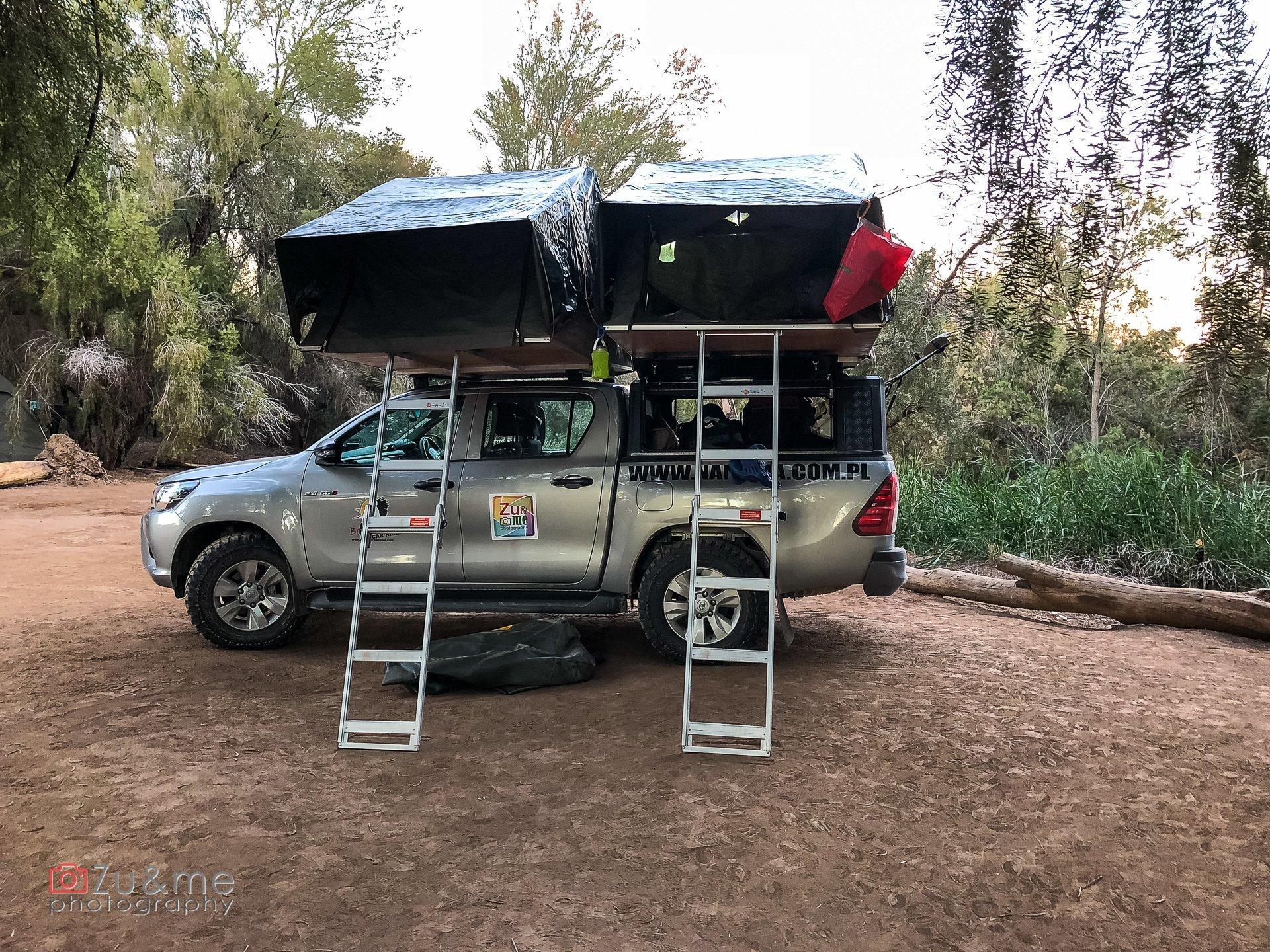 Campsite hobas nasze auto