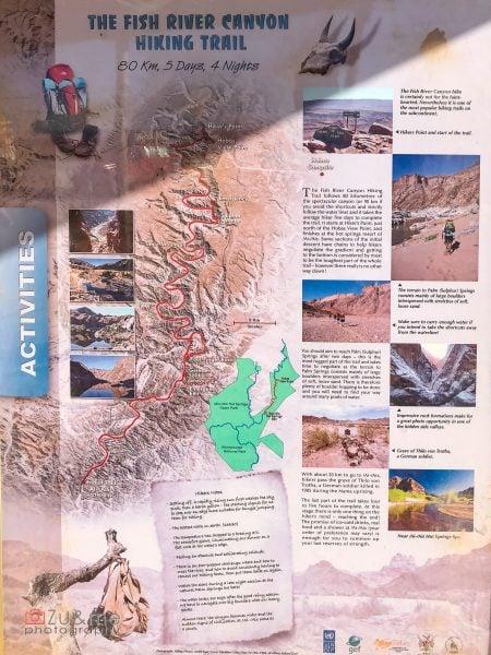 Fish river canyon - activities