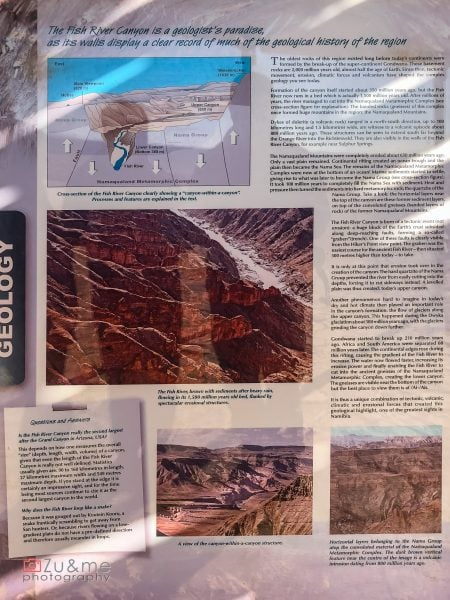 Fish river canyon - geology